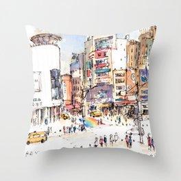 Ximen in Taipei city Throw Pillow