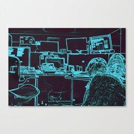 9-1-1 blue Canvas Print