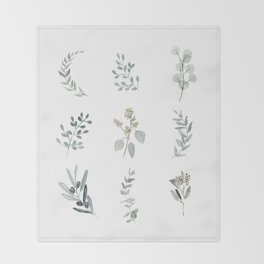 Botanical elements Throw Blanket