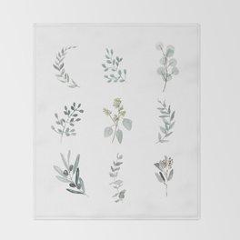 Botanical elements Throw Blanket