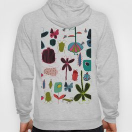 Insect watercolor white Hoody