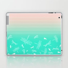 Dragonfly, Pink and Green Blush Laptop & iPad Skin