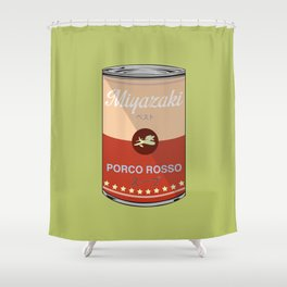 Porco Rosso - Miyazaki - Special Soup Series  Shower Curtain