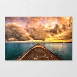Sunset Clouds Over Lake Superior Canvas Print