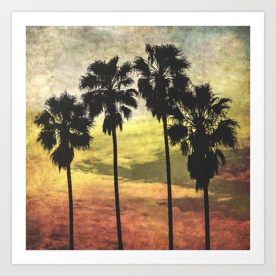 4 Palms Part Deux Art Print