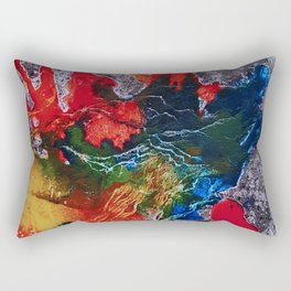 Abstract Colored Rectangular Pillow