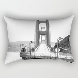 Golden Gate Bridge Black and White Rectangular Pillow