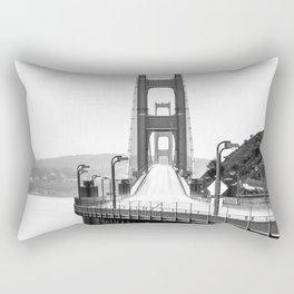 Golden Gate Bridge Black and White Rectangular Pillow