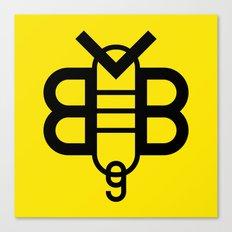 BVB Die Schwarzgelben Type Logo Canvas Print