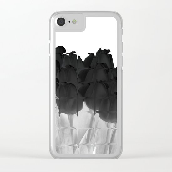Black tulips Clear iPhone Case