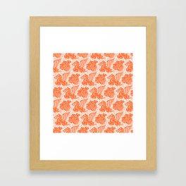 Pegasus Pattern Orange Framed Art Print