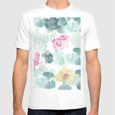 water lilies Mens Fitted Tee MEDIUM White