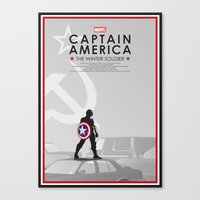 bucky barnes Canvas Prints featuring Bucky Barnes by Samantha Panther