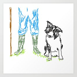 Sheep dog Art Print