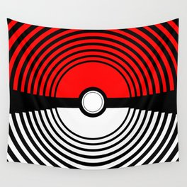 A Pokeball Within a Pokeball Wall Tapestry
