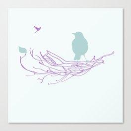 Nest with Bird Canvas Print