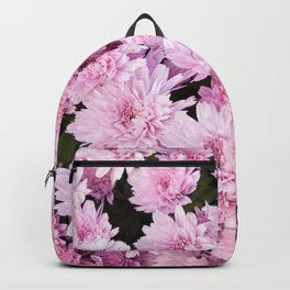 A Sea of Light Pink Chrysanthemums #1 #floral #art #Society6 Backpack