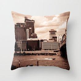 Pittsburgh Sepia Throw Pillow