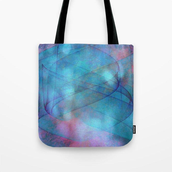 Blue tornado with fairy lights Tote Bag