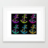 anchors Framed Art Prints featuring Anchors by foreverwars