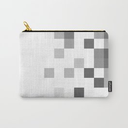 Gray Scale In Pixels Carry-All Pouch