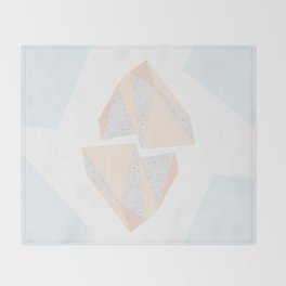 Abstract Iceberg Inspired with Terrazzo Patterns Throw Blanket