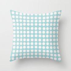 milk glass polka dots Throw Pillow
