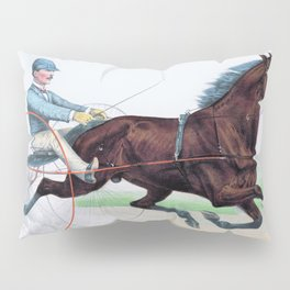 The grand young trotting stallion Axtell - Digital Remastered Edition Pillow Sham