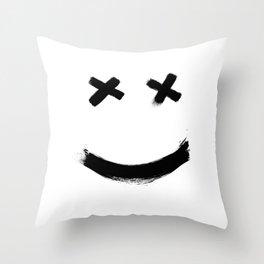 XX_ Smiley Throw Pillow