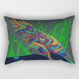 Colorful Lizard Rectangular Pillow
