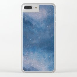 Abstract Night Skye Clear iPhone Case