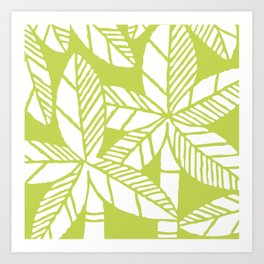 Tropical Palm Tree Composition 731 Chartreuse Green Art Print