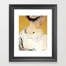 la fille au kimono - oil on canvas Framed Art Print
