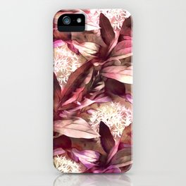 Flowers and Leaves - A Pattern iPhone Case