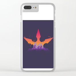 Deadly Sunrise Clear iPhone Case