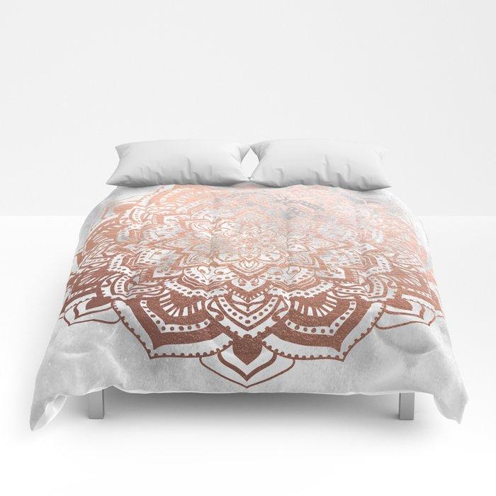 ROSE GOLD MANDALA Comforters