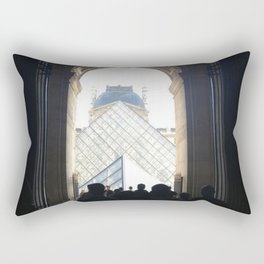 Pyramid at the End of a Tunnel Rectangular Pillow