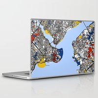 istanbul Laptop & iPad Skins featuring Istanbul by Mondrian Maps