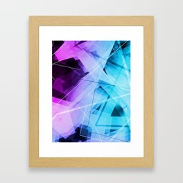 Reflections - Geometric Abstract Art Framed Art Print