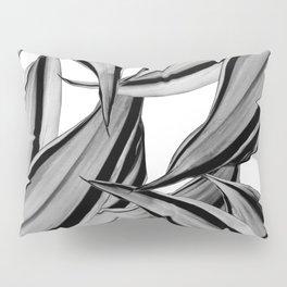Dracaena Tropical Leaves Pattern Black & White #2 #tropical #decor #art #society6 Pillow Sham