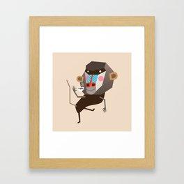 Baboon & Coffee Framed Art Print