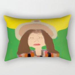 Praying with the Sun Rectangular Pillow