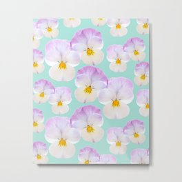 Pansies Dream #1 #floral #pattern #decor #art #society6 Metal Print