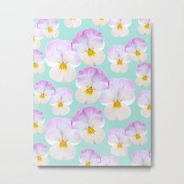 Pansies Dream #1 #floral #pattern #decor #art #society6 Metal Print