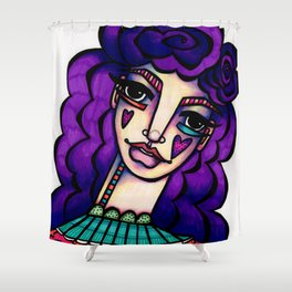 JennyMannoArt  Colored Illustration/Betty Shower Curtain