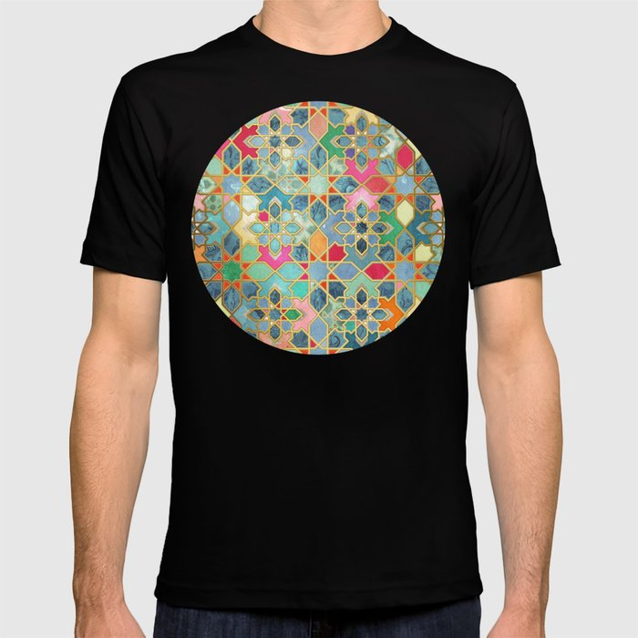 Gilt & Glory - Colorful Moroccan Mosaic T-shirt