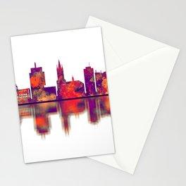 Szczecin Poland Skyline Stationery Cards