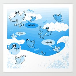 Twitter Storm Art Print