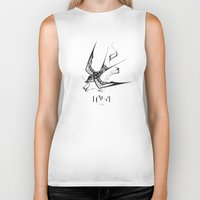 swallow Biker Tanks featuring Swallow by 99estudio