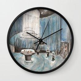 Watercolor Interior Design Wall Clock